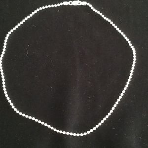 Stamped Sterling Silver Bead Choker